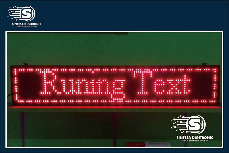 running text led solo (